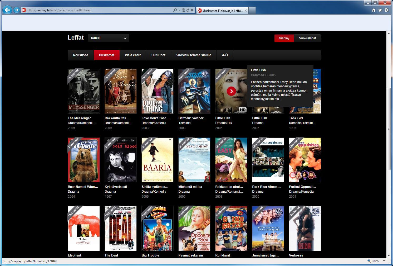 Viaplay elokuvat